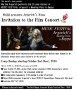 "Shiiki Argerich house salon ""film concert"" is held"